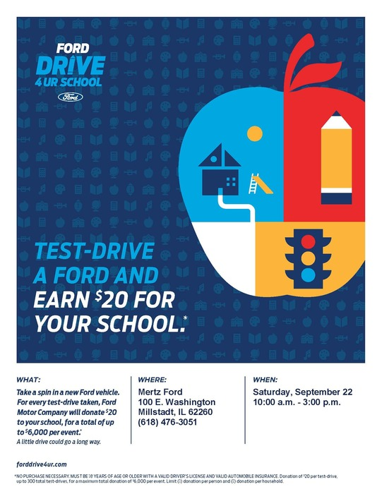 Test drive a car and earn $20 for our school!