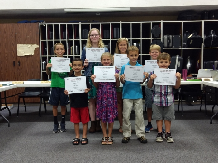 September Character Award Winners!