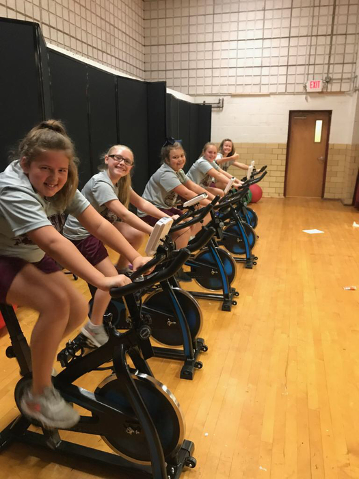 New exercise bikes in PE!